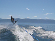 Wake boarding Flathead Lake