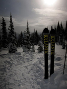 Back country skiing Nakusp British Columbia