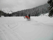 Snowmobiling at home