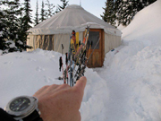 Back country yurt skiing in Seeley MT.